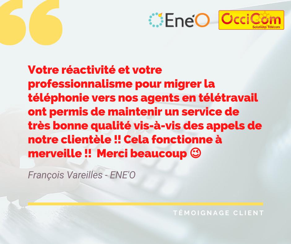 OcciCom, partenaire télécom de la société Ene'O