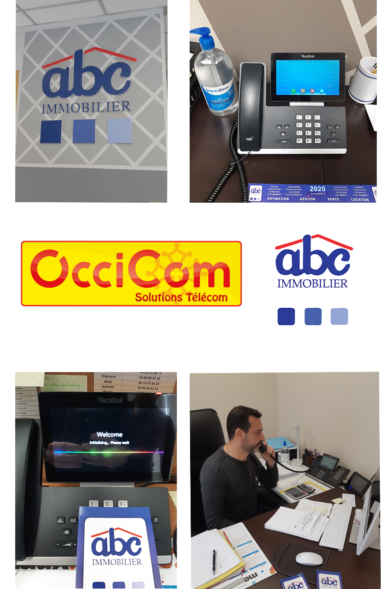 OcciCom, partenaire télécom des agences ABC immobilier
