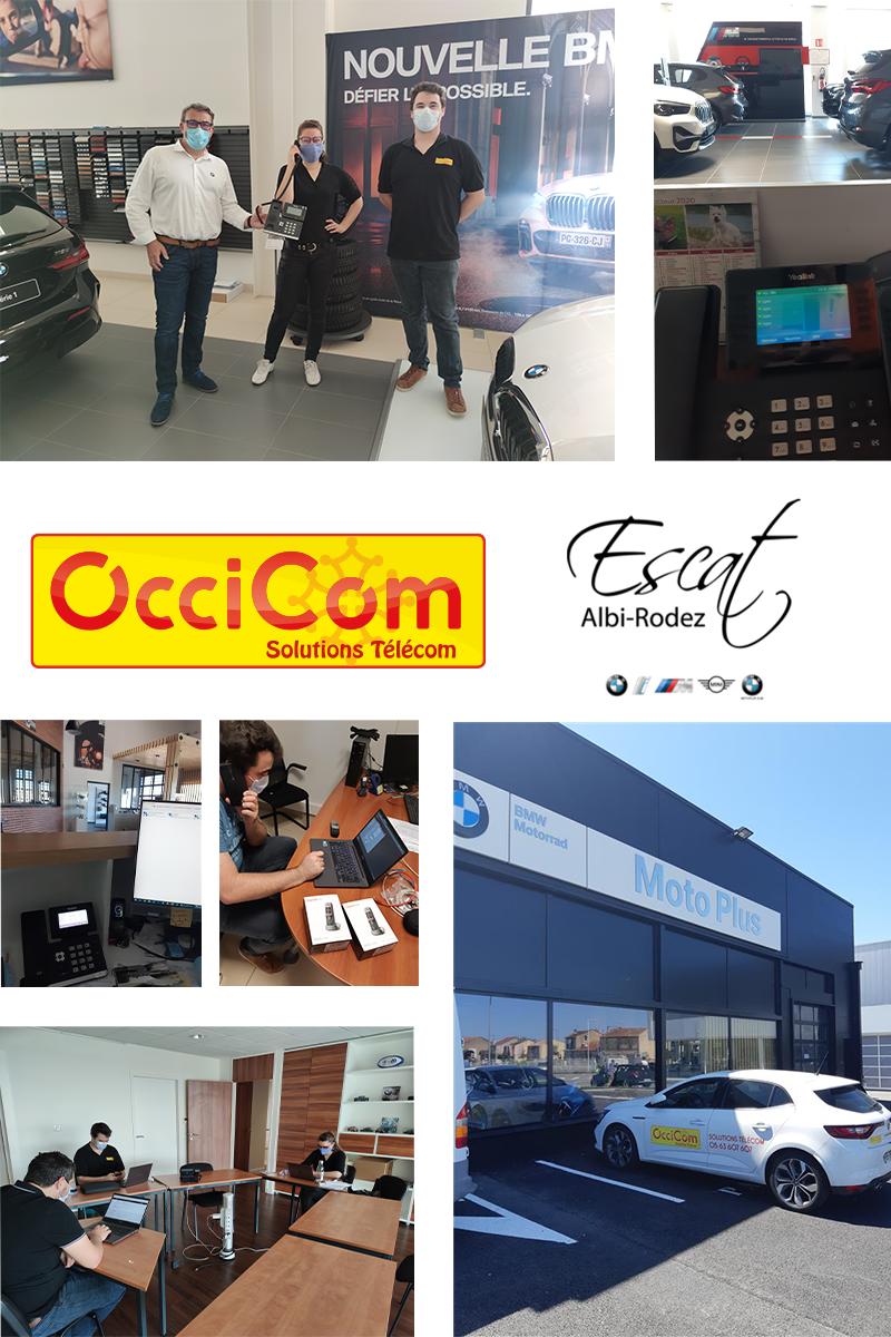 OcciCom partenaire télécom des concessions ESCAT Rodez Albi
