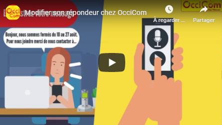 Modifier son répondeur chez OcciCom